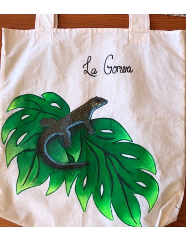 Bolso lagarto de La Gomera, tela de...